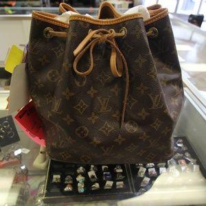 Louis Vuitton Monogram NOE Bucket Tote Bag w COA